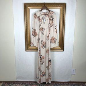 NWT Free People Wild Laurel blush maxi dress